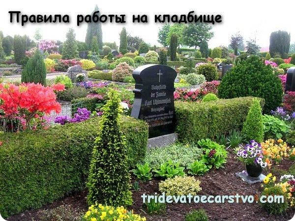 Кладбище. Правила работы